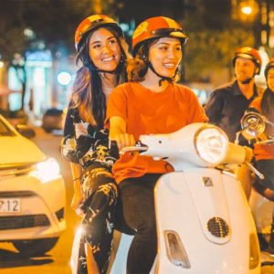 Saigon's nightlife Vespa tour