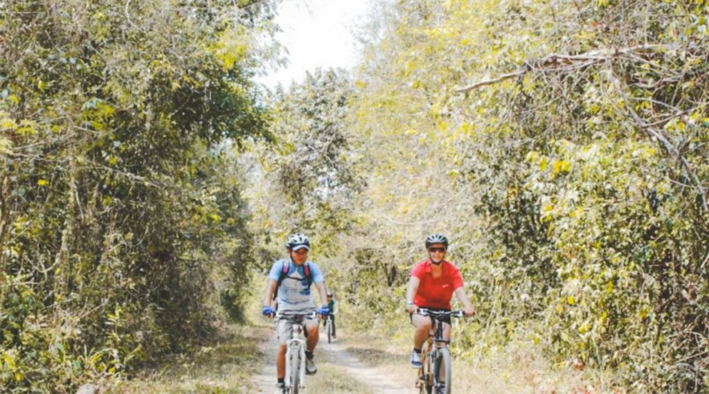 biking in Cat Tien National Park