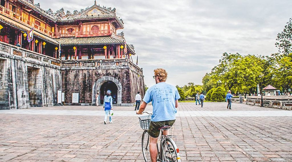 biking in Hue