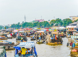 Cai Rang floating market tours