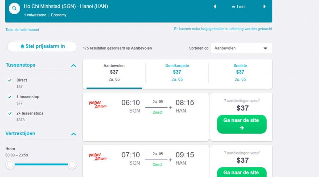skyscanner booking flight ticket in Vietnam