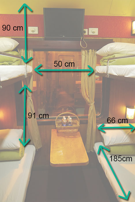 soft sleeper train in Vietnam