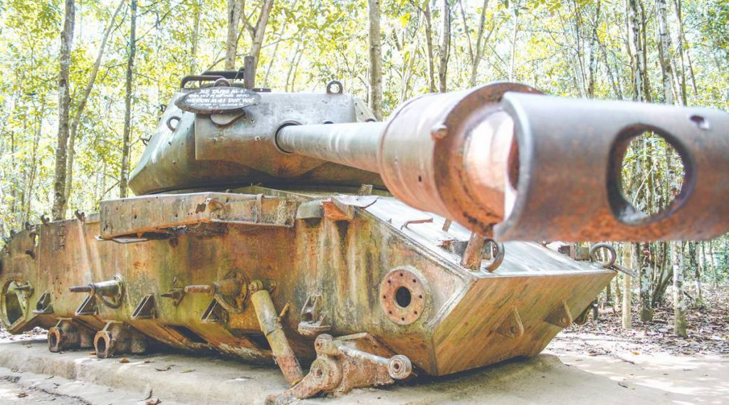 Tank at the Cu Chi Tunnels