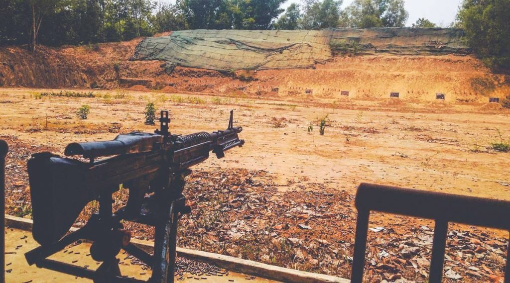 Shooting range at the Cu Chi Tunnels