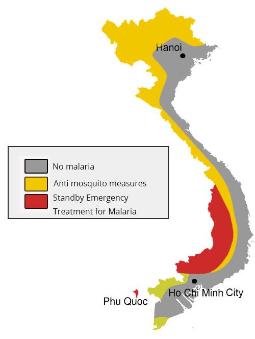 Malaria map Vietnam