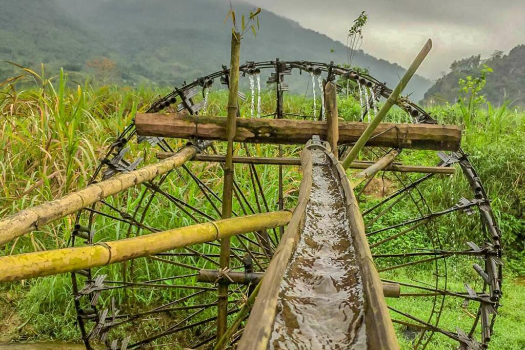 Whater wheels at Pu Luong nature reserve