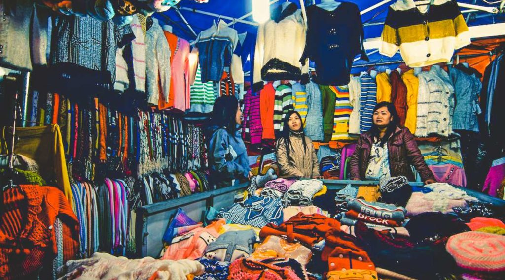 buying clothes in Dalat