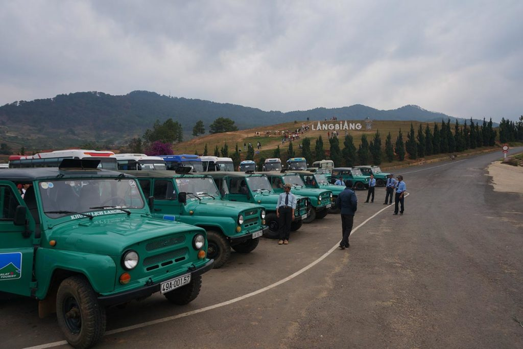 jeep Langbiang mountain